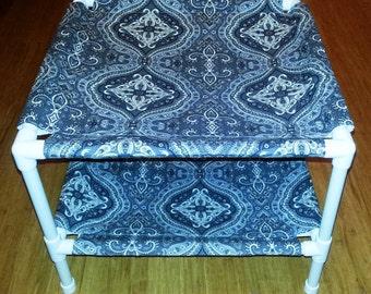 The Hammock Stack - Premium Cotton Fabric - Grey Paisley Pattern