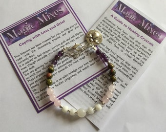 Miscarriage or Baby Loss Heart Healer, memorial bracelet, keep your Angel Baby in your heart, this reminder  on your wrist