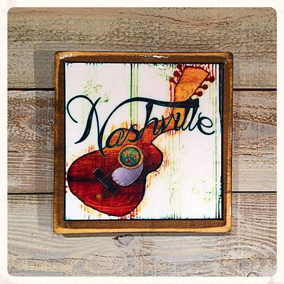 nashville handmade original rustic wooden wall art by