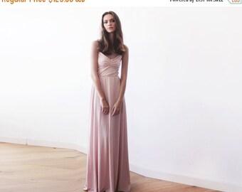 Blush pink maxi ballerina gown, Sweetheart neckline blush maxi dress, Bridesmaids dress