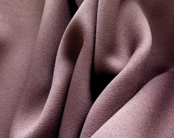 ℳ Solid poly suiting deep mauve satin finish 60 inch FC12453 Fabric by the Yard, 1 Yard