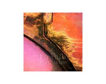 Tropic Colors Photo, Old Car, Flamingo Pink, Orange, Gold, Scrap Yard, Auto Junkyard