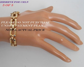 Reserved 18K Solid Yellow Gold Woman Bracelet 750 Italy (BREV) 14.5 grams (CRLN)