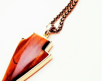 Mens Necklace Arrowhead, Anniversary Gift for Boyfriend, Man Necklace, Groomsman Gift, Arrowhead Necklace, 1st Year Anniversary Jewellry