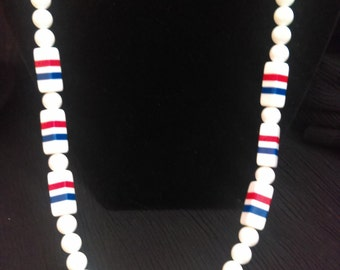 Red White & Blue Patriotic Necklace