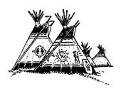 Large Tepees 645G Beeswax Rubber Stamps Mounted Stamp People, Men & Women Stamping