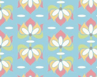 CLEARANCE Sale - 1 Yard - Riley Blake Designs Priscilla Blue Floral SKU# C3362-BLUE