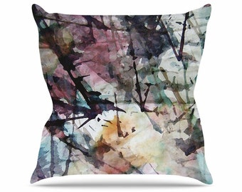 Throw Pillows, Pink and Blue Throw Pillows, Decorative Throw Pillows, Unique Throw Pillows, Home Decor, Abstract Trees, Art by Malia