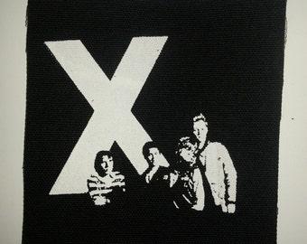 X The Band - punk LA black canvas