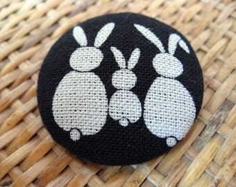 SALE, 10%OFF,Rabbi Brooch,Rabbit pin,cotton #2