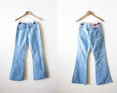 SALE 90s Flare Jeans - Bongo 1990s bell bottom jeans - 25 waist small