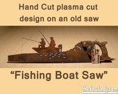 Metal Art Fishing Boat de...