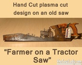 Metal Art Farmer Riding a...