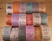 HUGE SALE 18 Antique London Bus Tickets Mixed Lot | Assortment | Travel | Transportation | Vintage Tickets | Colors | LAST Ones