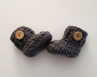SALE Crochet Baby Boots , Baby Booties ,Crib Shoes, Girl Shoes ,Boy Shoes , Made To Order