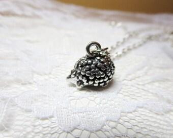 Hedgehog  Necklace- silver hedgehog jewelry -bronze hedgehog