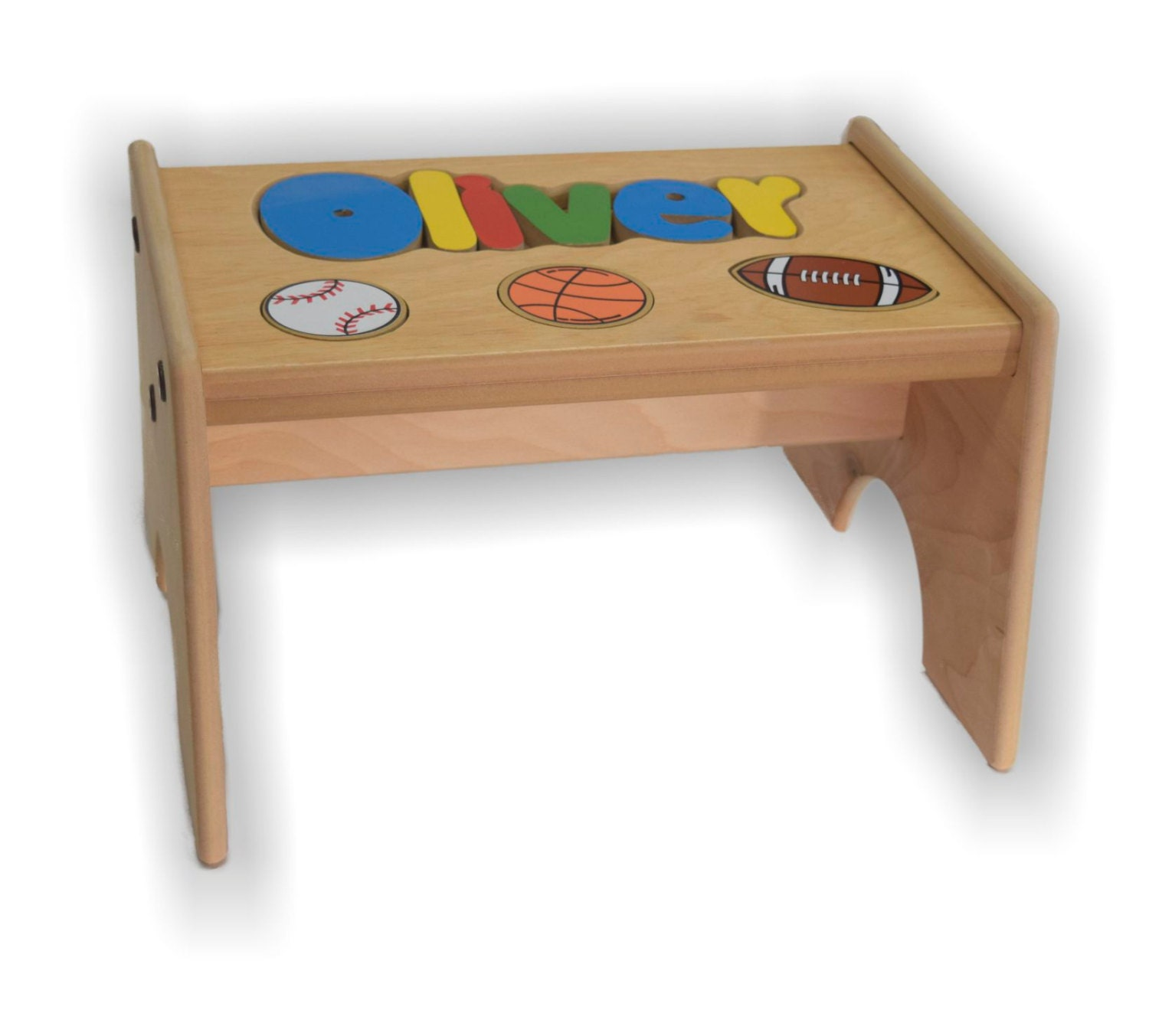 Children S Personalized Puzzle Step Stool