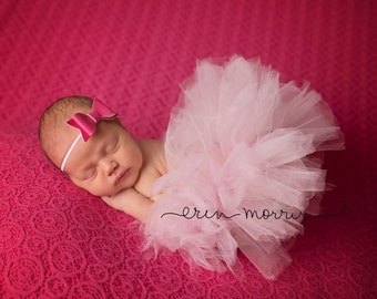 Newborn photo prop, Baby photo prop, Baby tutu, Baby tutu set, Pink tutu set, newborn tutu set, newborn tutu, photography prop, photo prop