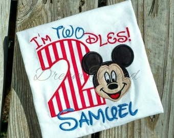 I'm TWOdles Mickey mouse birthday shirt, Mickey mouse, Mickey mouse clubhouse, toodles, kids tees, Minnie Mouse birthday (made to order)