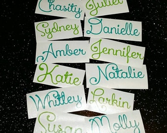 Name Decal, monogram, laptop Decal, car Decal, pencil box Decal, notebook Decal, yeti Decal, vinyl Decal (Made to order)