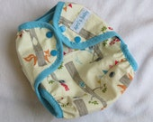 One size cloth diaper cover - Into the Woods