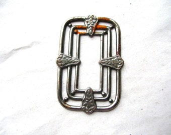 Art Deco Steel Stamping - Rusty Steel Finding - Steel Findings - Art Deco Findings - Art Deco Stamping
