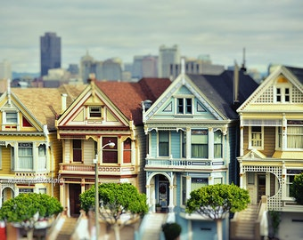 San Francisco Painted Ladies | San Francisco Fine Art Photography Print | Colorful Victorian Houses Travel Photography Print | Architecture