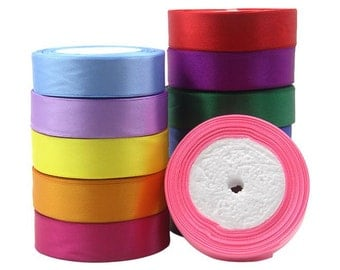 "DIY Handmade Jewelry Accessories-Solid Color Fine Ribbon Tape""1PCS"