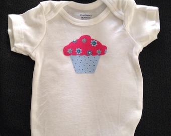 Cupcake Onesie 3-6 months