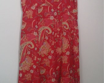 Upcycled romantic clothing/ M-XL/babydoll scarf dress/shabby chic clothing/romantic bohemian dress/junk gypsy style/eco clothing/