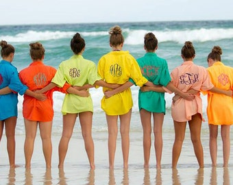 Monogrammed Fishing Shirt  long sleeve Adult sizes Beach coverup S M L XL 2XL 3XL