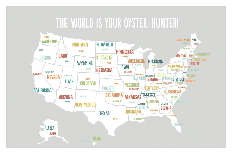 Customized USA Map USA Map Art USA Map Poster Usa Map Print - Poster map of usa