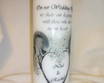 Wedding Remembrance Candle Personalized Customized Memorial Candle In Loving Memory Of Wedding Sign Remembrance Sign Personalised