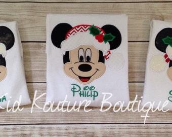Christmas Mickey/Minnie Mouse shirt