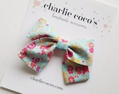 """Baby Bow Headband OR Hair Clip // Liberty of London Hair Bow """"Millie II"""" by Charlie Coco's"""