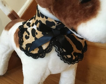 Leopard Rounded Collar by FiercePetFashion