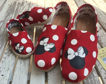 Red Mommy & Me Minnie Mouse Polka Dot TOMS