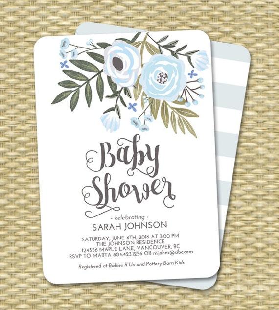 Baby Boy Shower Invitation Boy Baby Shower Invite Baby Shower