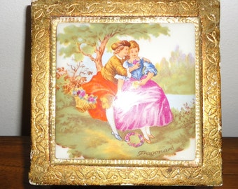 Fragonard Florentine  Gold gilt jewelry box made in Italy