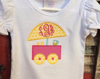 Lemonade Stand Applique shirt