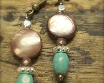014 Brown & Turquoise Earrings