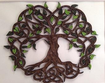 Celtic Tree Of Life quilled art | Framed art 11x14