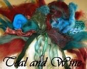 Felting and Spinning Fibers, Merino Wool, Silk Hankies, Silk Rods, Mulberry Silk, Silk Fibers, Firestar and textured Yarn - October leftover