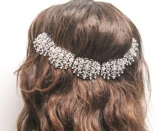 Wedding headband,Bridal hair accessories down,Wedding hair jewelry chain,Wedding hair accessories headbands,Bridal hair piece,Wedding vine