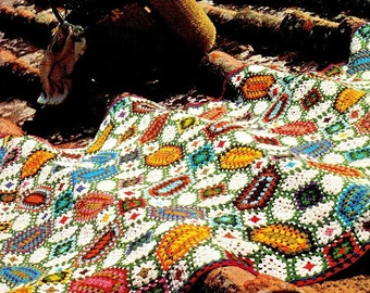 "Vintage 70's ""Mosaic"" Afghan - PDF Pattern - INSTANT DOWNLOAD"