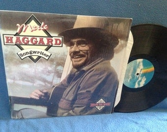 "Vintage, Merle Haggard - ""Songwriter"", Vinyl LP Record Album, original 1986 Press, Greatest Hits, In Shrink, Ramblin' Fever,  Country, Rock"