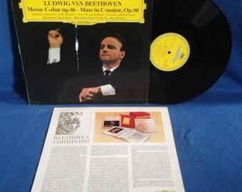 "RARE, Vintage, Ludwig Van Beethoven - ""Messe C-dur op.86 Mass In C Major, Op.86"", Vinyl LP Record Album, Karl Richter, Classical, Grammophon"