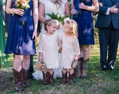 The Simply Ivory Lace Flower Girl Dress