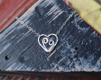 Mother and child necklace in sterling silver, mothers' love, expectant mother, new baby, new mom