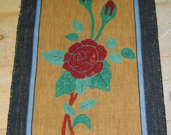 Vintage hand Made Weaved Rug